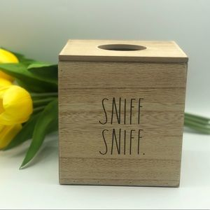 Rae Dunn SNIFF SNIFF Wooden Tissue Box Cover
